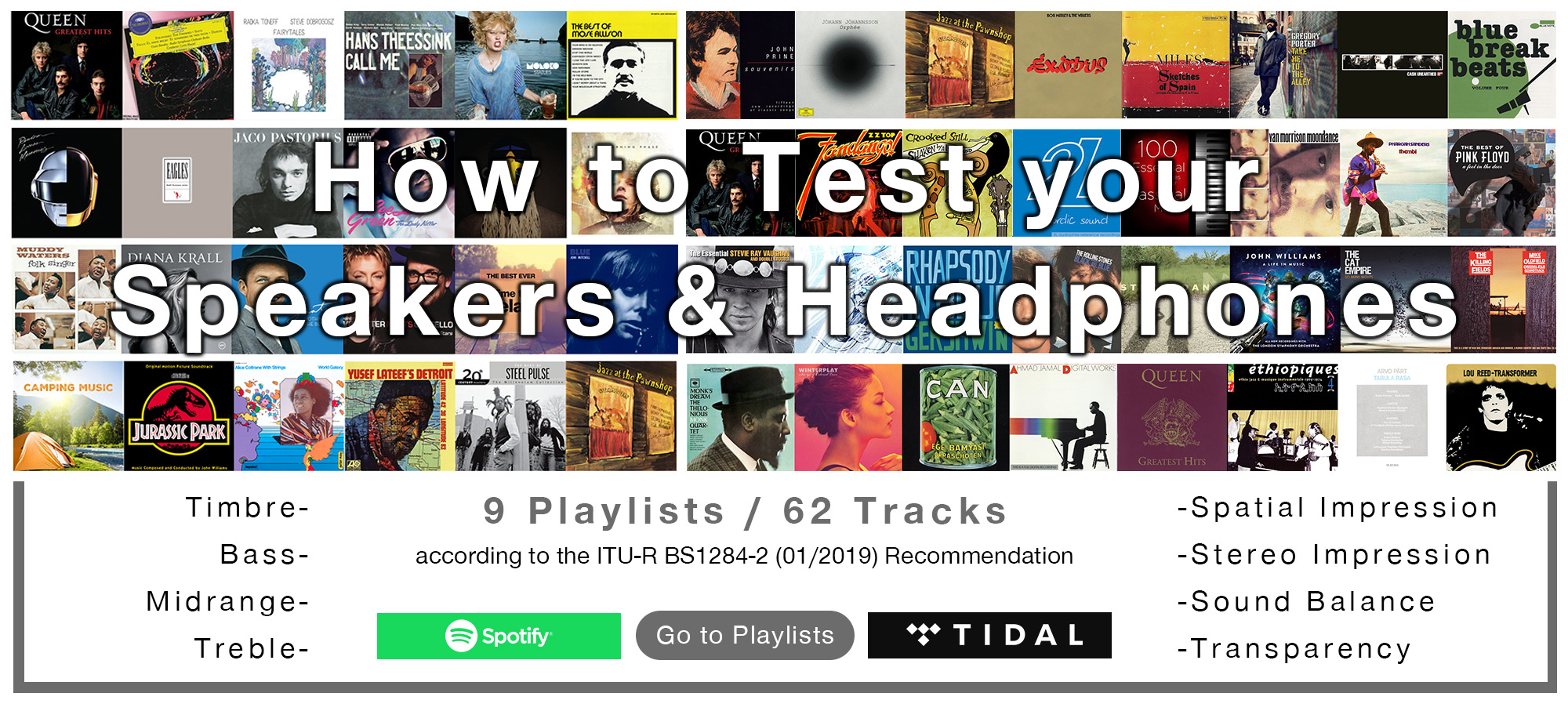 Test your headphones/speakers playlists